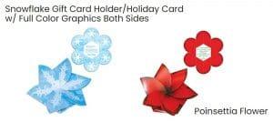 Christmas cards cutout shapes