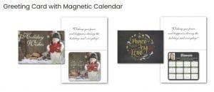 Christmas cards with calendar