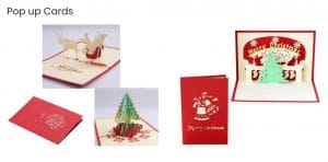 Business Christmas cards pop up