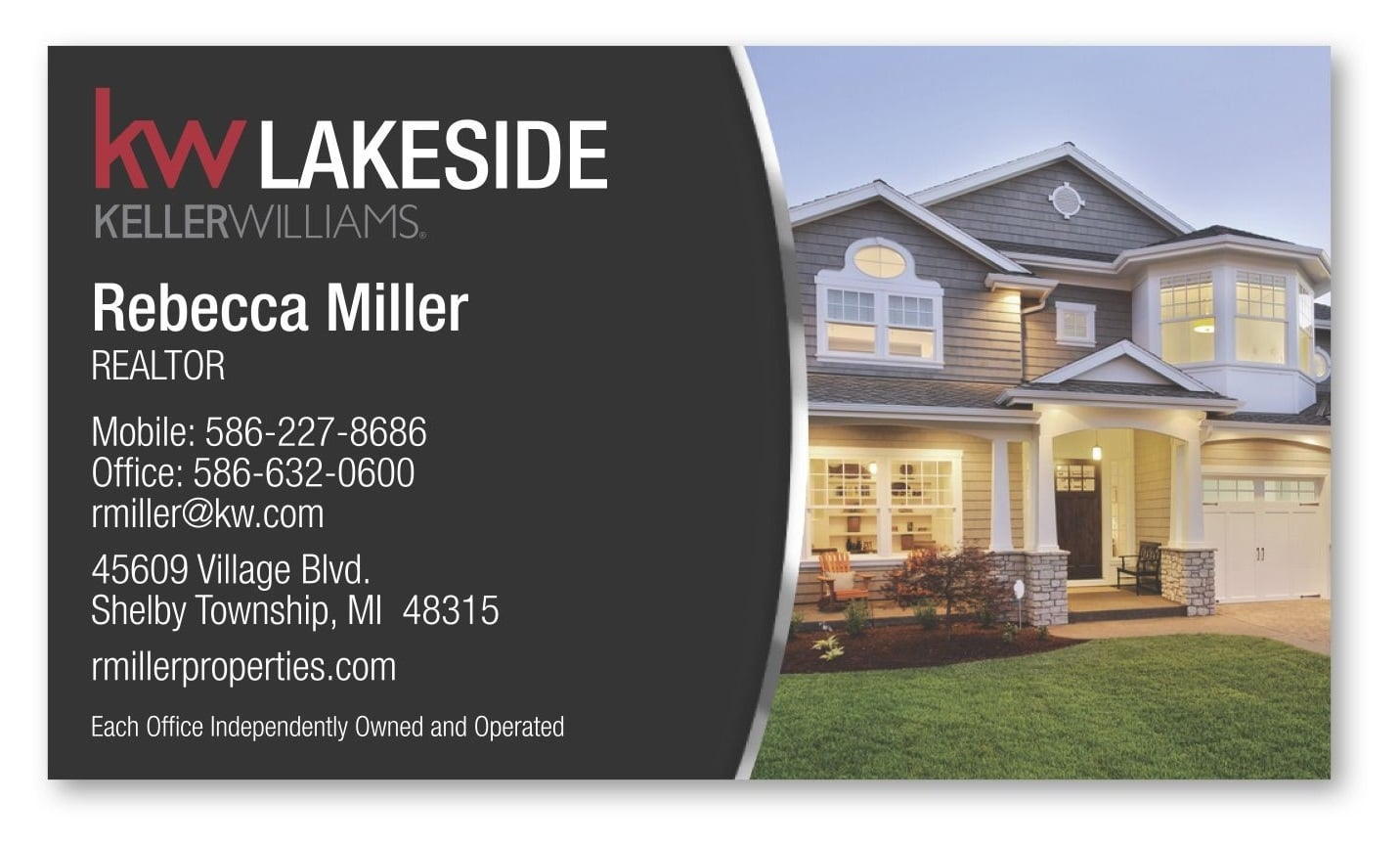 Real estate marketing Fort Worth business cards