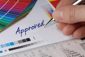 approval of a print fulfillment job